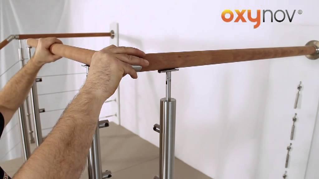 oxynov 6 assemblage rampe en bois d 42mm youtube. Black Bedroom Furniture Sets. Home Design Ideas