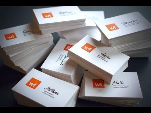 Letterpress Printing Visitenkarten Business Cards Für Die Webfactory In Bonn
