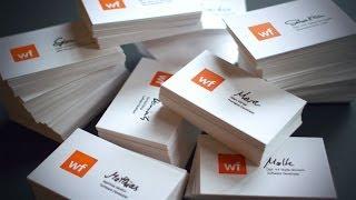 Letterpress Printing Visitenkarten / Business Cards für die Webfactory in Bonn