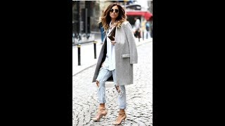 Stylish women in winter coat