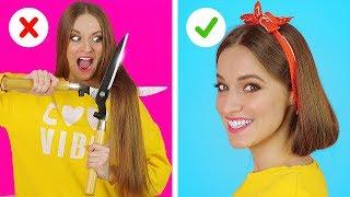 TRUQUES E DICAS BRILHANTES PARA OS CABELOS || Situações engraçadas com cabelos por 123 GO!