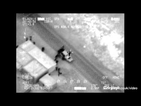 Footage released of Iraqi air strike on al-Qaeda hideout
