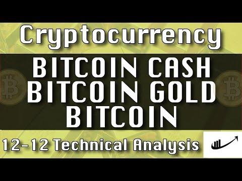 12-12 BITCOIN CASH : BITCOIN GOLD :BITCOIN Update CryptoCurrency Technical Analysis Chart