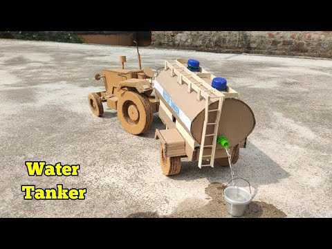 || How To Make Water Tanker || RC Tractor With Water Tanker ||