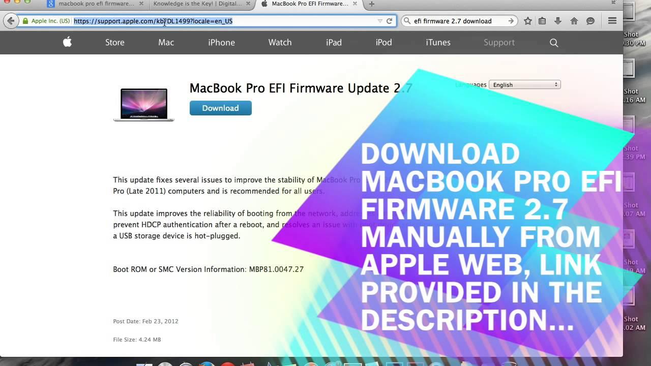 Macbook pro efi firmware download software