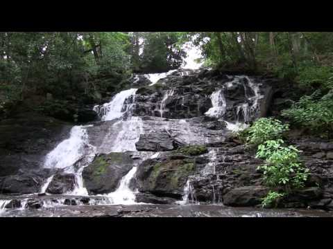 Waterfall Relaxing 1 Hour with Calm Meditation Music Chattahoochee National Forest
