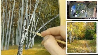 #71 How to Paint Silver Birch trees!   Michael James Smith