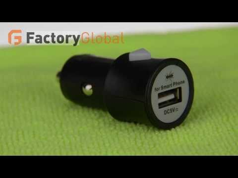 Black Universal Mini USB Auto Car Charger Adapter for iPhone 4 4S iPad PSP CLB K498