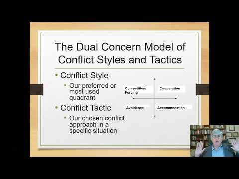 The Dual Concern Model of Conflict Styles and Tactics