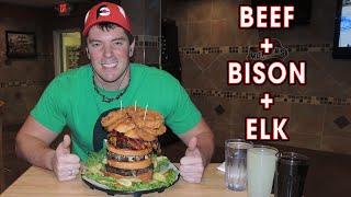 Spoke's Elk Bison Beef 3lb Crown Burger Eating Challenge | Randy Santel