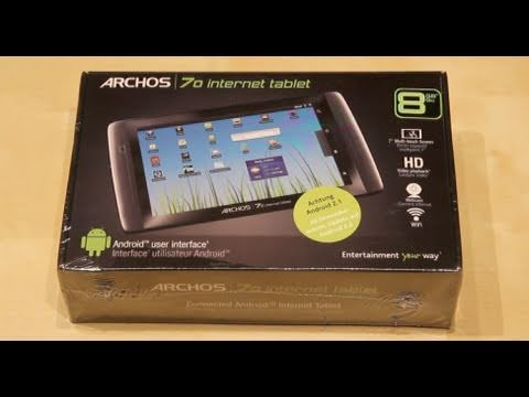 Archos 7.0 Internet Tablet Unboxing - German