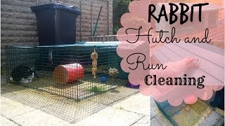 Rabbit Hutch And Run Cleaning | Rosiebunneh