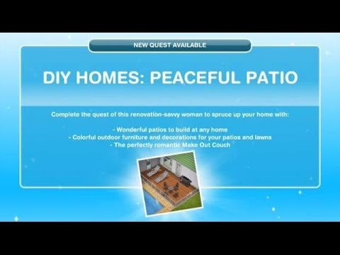 [The Sims Freeplay] – DIY Homes: Peaceful Patio Görevi