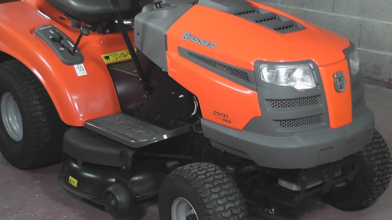 how to sharpen the blades on a husqvarna cth151 lawnmower. Black Bedroom Furniture Sets. Home Design Ideas