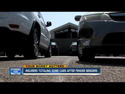 Insurers totaling cars after fender benders