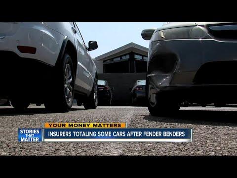 Insurers totaling cars after fender benders