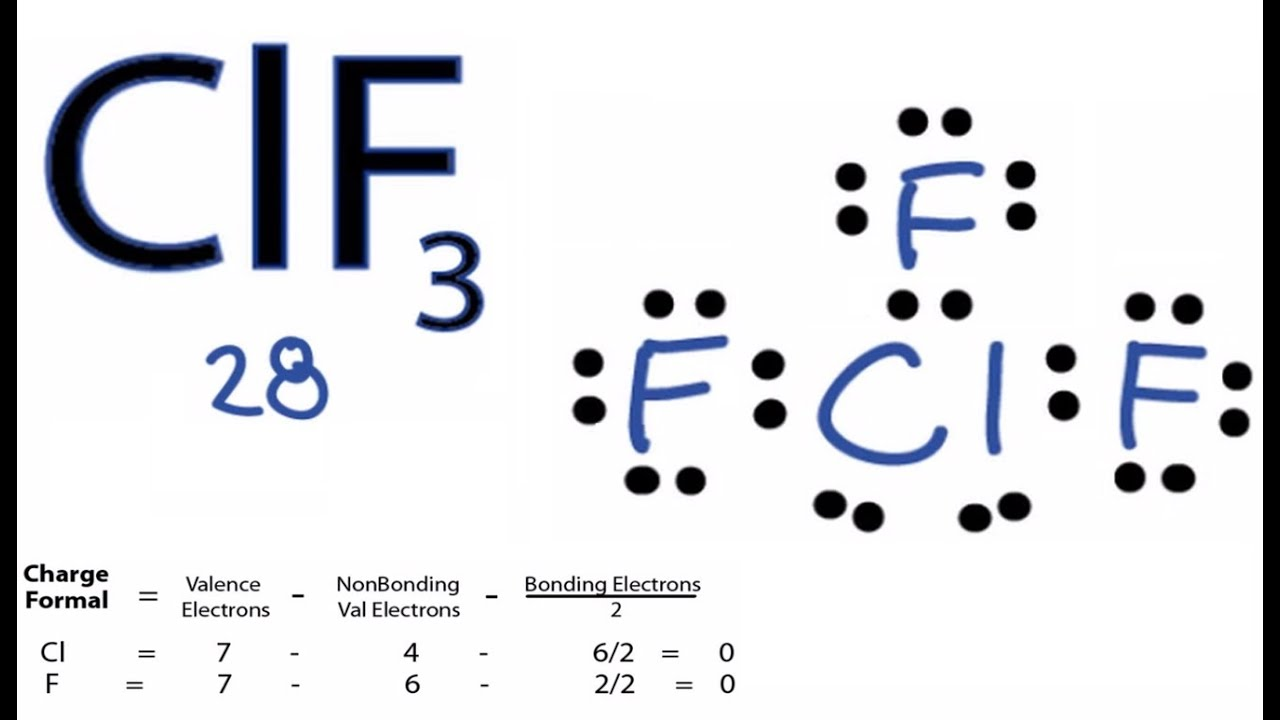 medium resolution of clf3 lewis structure how to draw the lewis structure for clf3 youtube