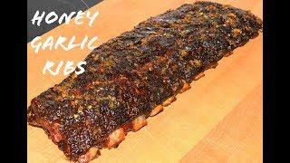 Honey Garlic BBQ Ribs - How To BBQ Pork Ribs - Weber Ranch Kettle Grill