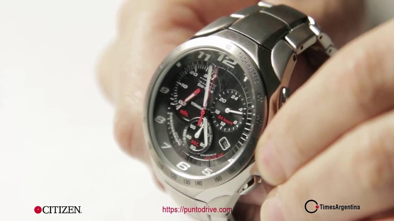 CITIZEN ECO-DRIVE TITANIUM AT1120-58E - Reloj Hombre apto para Vestir y  Actividades Deportivas - YouTube 87ef5a870d