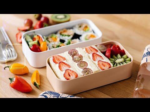Easy BENTO BOX Lunch Ideas for Summer - Fruit Sando & Easy Tuna Roll Bento