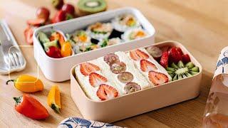 Easy BENTO BOX Lunch Ideas for Summer - Fruit Sando &amp Easy Tuna Roll Bento