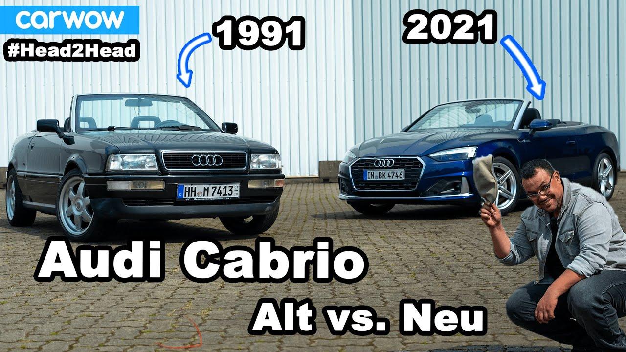 Audi A5 Cabrio (2021) vs. Audi Cabrio (1991) - #deansreise durch die Zeit! 30 Jahre im Vergleich
