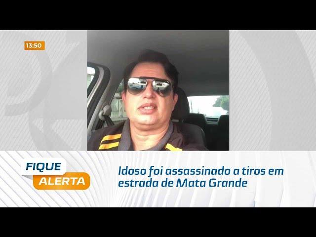 Idoso foi assassinado a tiros em estrada de Mata Grande