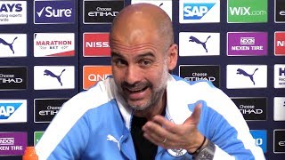 Pep Guardiola Pre-Match Press Conference - Norwich v Man City - Embargo Extras