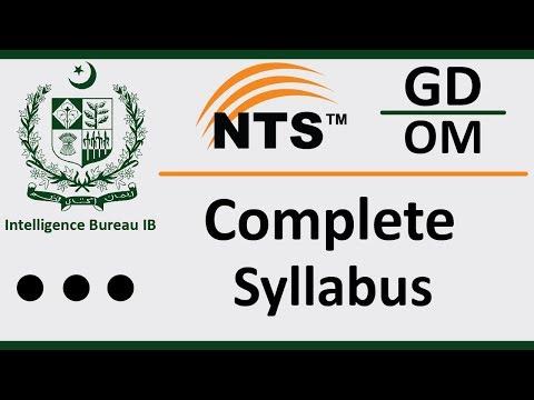 ib-test-preparation- -pakistan-intelligence-bureau-syllabus- -nts-test-syllabus- -ib-nts-jobs-2019