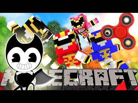 POWER RANGERS VS BENDY AND THE INK MACHINE!! Saving the Green Ranger | Minecraft Modded Minigame