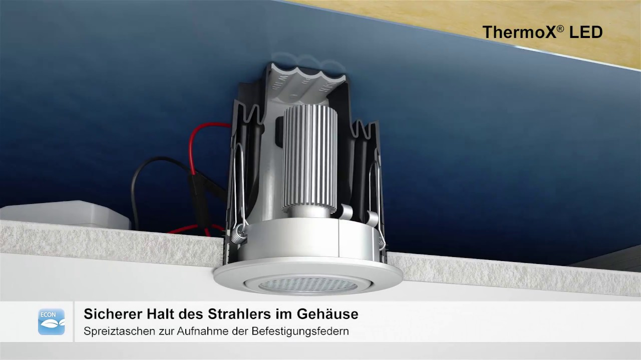 Einbaugehuse ThermoX LED  YouTube