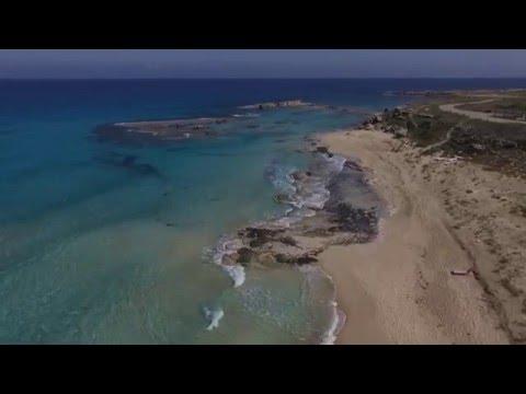 DJI Phantom 3 Advanced Flight Ayfilon Roman Harbour Dipkarpaz TRNC North Cyprus Aerial Filming