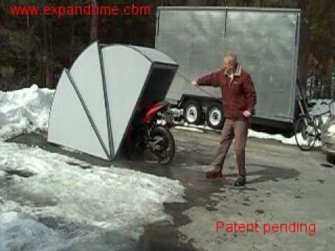 Motorcycle shelter youtube - Motorcycle foldable garage tent cover ...