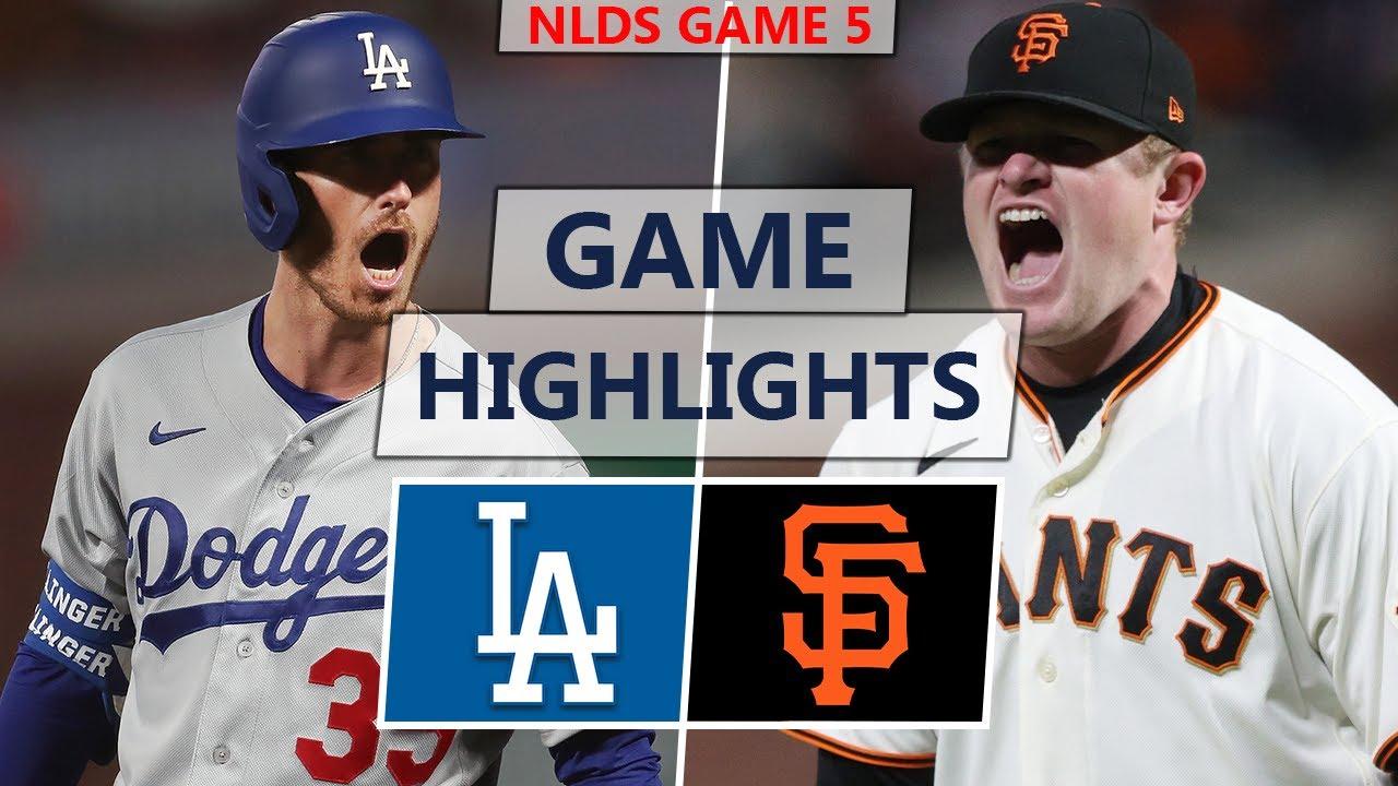 Los Angeles Dodgers vs. San Francisco Giants Highlights | NLDS Game 5 (2021)