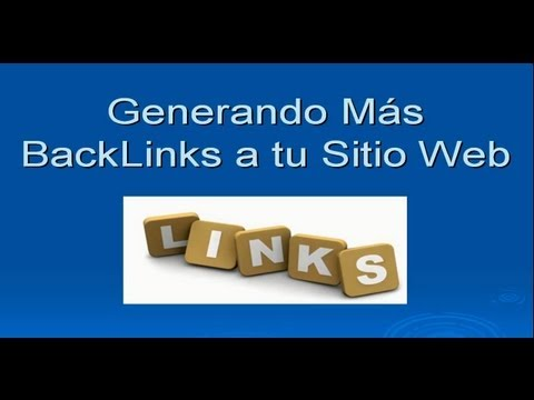 Curso De SEO 7/9: Como Generar Backlinks Hacia Tu Pagina Web - RonaldVasquez.com