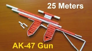 Wie Machen Sie eine Papier-AK-47-Gewehr, Das Schießt 25 Meter (Aktualisierte Version 2.0) - Einfache Tutorials