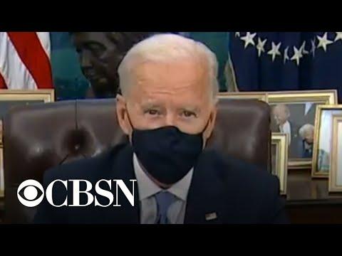 Biden signing new executive orders to address coronavirus pandemic