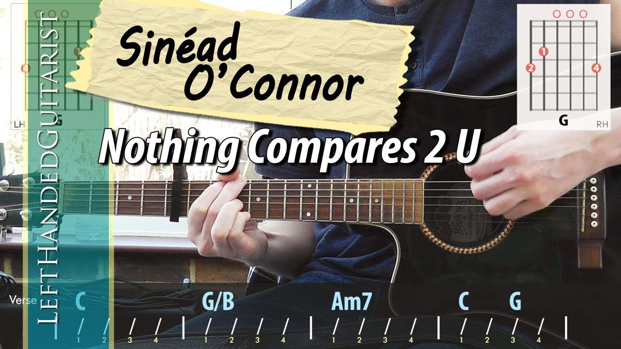 Sinéad O Connor Nothing Compares 2 U Acoustic Guitar Lesson Youtube