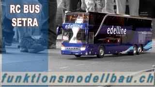 RC OMNIBUS SETRA - PREMIERE BIG RC BUS AT MINI TRUCK DRIVER LYSS, SWISS 3014
