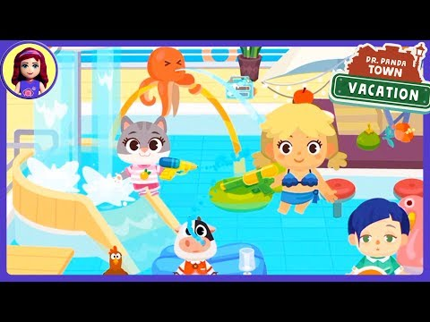 Dr. Panda Town: Vacation App Game Play with Millie & Me Kids Toys