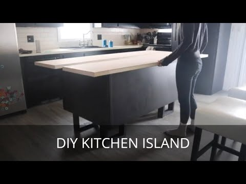 How to Build a Modern Kitchen Island | Inexpensive Countertop