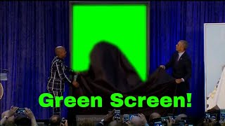 Obama Portrait Reveal (Green Screen)