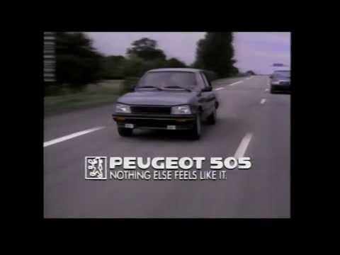 80's USA Peugeot -505- North America TV Commercials USA & Canada