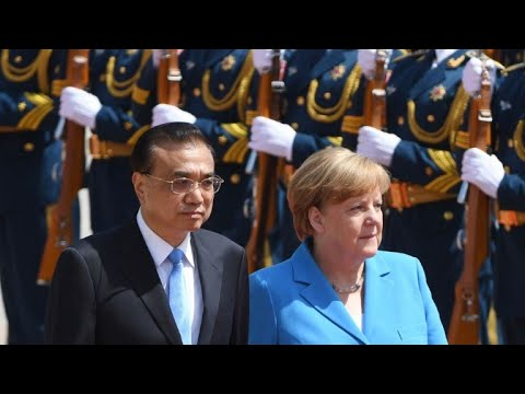 German Chancellor Angela Merkel meets Chinese PM in Beijing