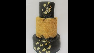 MY Black and Gold Bday Cake