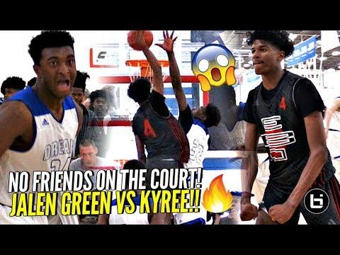 NO FRIENDS On The COURT!! #1 Jalen Green vs #2 Kyree Walker MOST EPIC BATTLE OF 2018!!