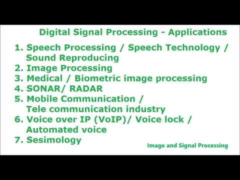 Digital Signal Processing Applications - DSP Applications - Signal  Processing Applications