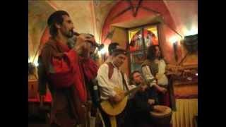 Středověká hostina Hotel Kampa, Agentura Merlet, tanec Siderea, leden 2012