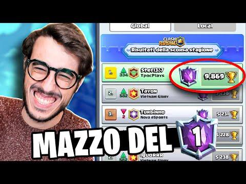 GIOCO CON IL MAZZO DEL NUMERO 1 AL MONDO! - Clash Royale