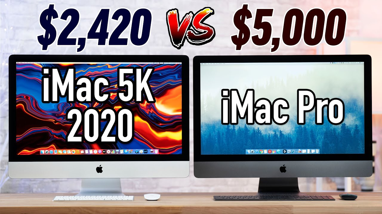 The 2020 5K iMac ($2420) OUTPERFORMS the $5000 iMac Pro!